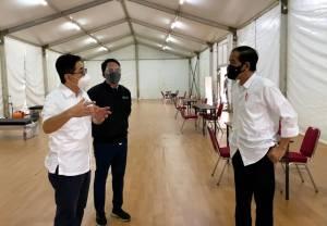 Jokowi Tinjau Pembangunan Rumah Oksigen Gotong Royong
