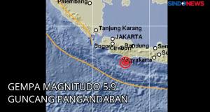 Gempa Magnitudo 5.9 Guncang Pangandaran Teresa Sampai Kota Lain