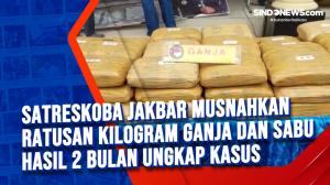 Satreskoba Jakbar Musnahkan Ratusan Kilogram Ganja dan Sabu Hasil 2 Bulan Ungkap Kasus