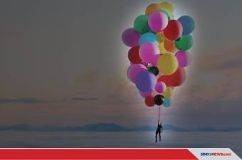 David Blaine Terbang Dengan balon helium setinggi 7.600 meter