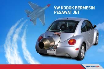 Dijual Rp7,6 Miliar, Volkswagen Kodok Ini Bermesin Pesawat Jet