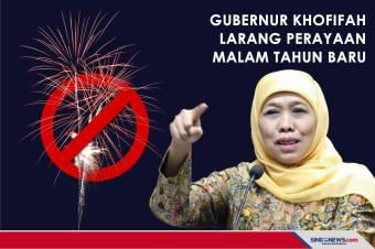 Gubernur Khofifah Larang Perayaan Malam Tahun Baru