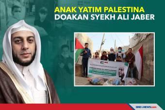 Mengharukan, Anak Yatim Palestina Doakan Syekh Ali Jaber