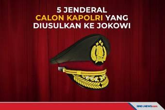 5 Jenderal Calon Kapolri yang Diusulkan ke Jokowi