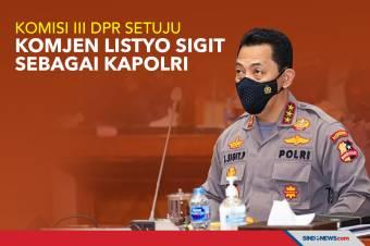 Komisi III DPR Setuju Komjen Listyo Sigit Sebagai Kapolri