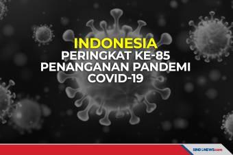Indonesia Peringkat Ke-85 Penanganan Pandemi Covid-19