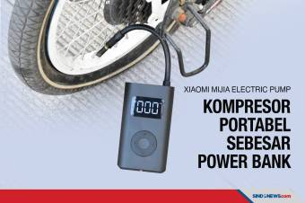 Xiaomi Mijia Electric Pump, Kompresor Portabel Sebesar Power Bank