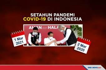 365 Hari Pandemi Covid-19 di Indonesia