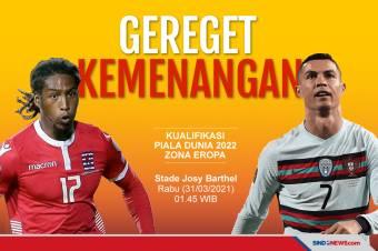 Preview Luksemburg vs Portugal: Saatnya CR7 Lampiaskan Amarah