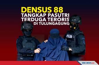 Densus 88 Tangkap Pasutri Terduga Teroris Di Tulungagung