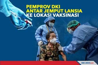 Vaksinasi Covid-19, Pemprov DKI Beri Layanan Antar Jemput Lansia