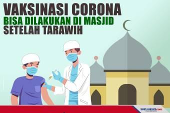 Vaksinasi Corona Bisa Dilakukan di Masjid Setelah Tarawih