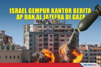 Israel Gempur Menara Kantor Berita AP dan Al Jazeera Di Gaza