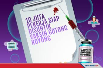 10 Juta Karyawan Swasta Sudah Daftar Vaksinasi Gotong Royong