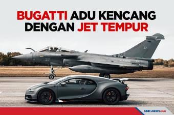 Bugatti Edisi Spesial Adu Kencang dengan Pesawat Jet Tempur