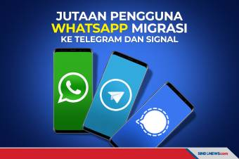 Jutaan Pengguna WhatsApp Migrasi ke Telegram dan Signal
