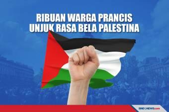 Tumpah ke Jalan, Ribuan Warga Prancis Unjuk Rasa Bela Palestina