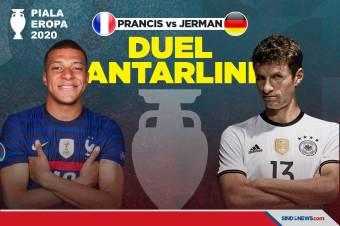 Preview Piala Eropa 2020: Prancis vs Jerman, Duel Antarlini