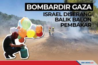 Bombardir Gaza, Israel Diserang Balik Balon Pembakar