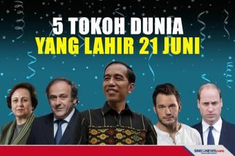 Jokowi Ulang Tahun, Ini 5 Tokoh Dunia Lahir 21 Juni