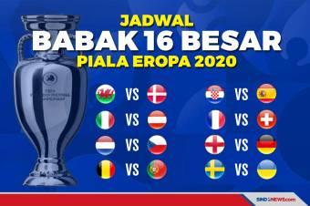 Jadwal 16 Besar Piala Eropa 2020: Inggris Jumpa Der Panzer