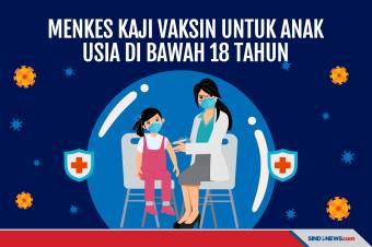 Kementerian Kesehatan Kaji Vaksin ke Anak Usia di Bawah 18 Tahun