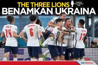 Benamkan Ukraina, Inggris Lolos ke Semifinal Piala Eropa 2020