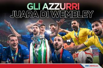 Final Piala Eropa 2020: Gli Azzurri Juara di Wembley
