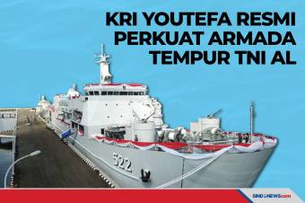 KRI Youtefa - 522 Resmi Perkuat Armada Tempur TNI AL