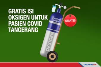 Gratis Isi Oksigen untuk Pasien Covid-19 Tangerang