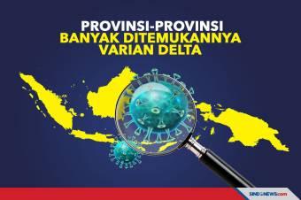 Provinsi-Provinsi Banyak Ditemukannya Varian Delta