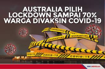 Australia Lockdown Sampai 70% Warga Divaksin Covid-19