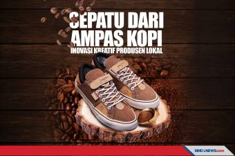 Sepatu dari Ampas Kopi, Inovasi Produsen Buatan Lokal