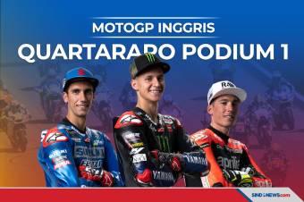 Hasil MotoGP Inggris 2021, Fabio Quartararo raih Podium Pertama