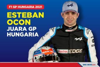 GP Hungaria 2021: Diwarnai Tabrakan Massal, Esteban Ocon Juara