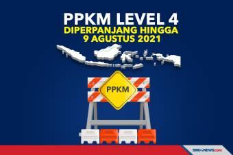 Pemerintah Perpanjang PPKM Level 4 Hingga 9 Agustus 2021