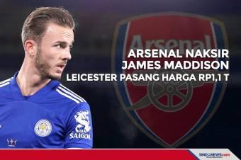 Arsenal Naksir James Maddison, Leicester Pasang Harga Rp1,1 T