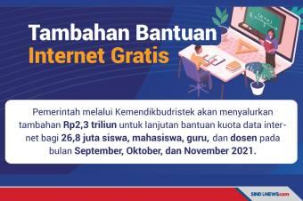 Tambahan bantuan Internet Gratis