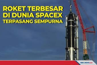 Roket Terbesar di Dunia Milik SpaceX Terpasang Sempurna