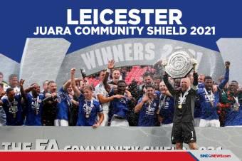 Menang Tipis Atas Man City, The Foxes Juara Community Shield 2021