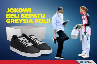 Presiden Jokowi Beli Sepatu Sneakers dari Greysa Polii