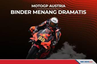 Brad Binder Menang Dramatis di MotoGP Austria 2021
