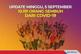 Update Minggu, 5 September 10.191 Orang Sembuh dari Covid-19