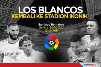 Real Madrid Siap Hadapi Celta Vigo di Stadion Ikonik