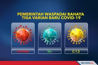 Pemerintah Waspadai Bahaya Tiga Varian Baru Covid-19