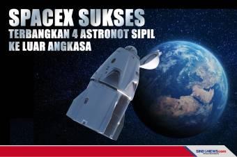 SpaceX Terbangkan 4 Astronot Sipil ke Luar Angkasa