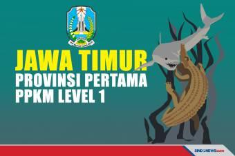 Jawa Timur Jadi Provinsi Pertama yang Masuk PPKM Level 1