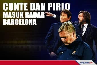 Barcelona Ingin Pecat Koeman, Conte dan Pirlo Masuk Radar
