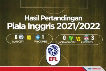 Hasil Piala Inggris 2021/2022: Liverpool dan Man City Pesta Gol