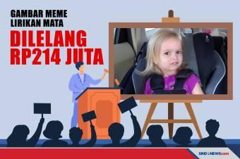 Hit di Internet, Meme Lirikan Mata Dilelang Rp214 Juta